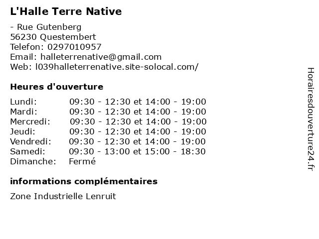 Sas Cotten-Le Normand à Questembert: adresse et heures d'ouverture