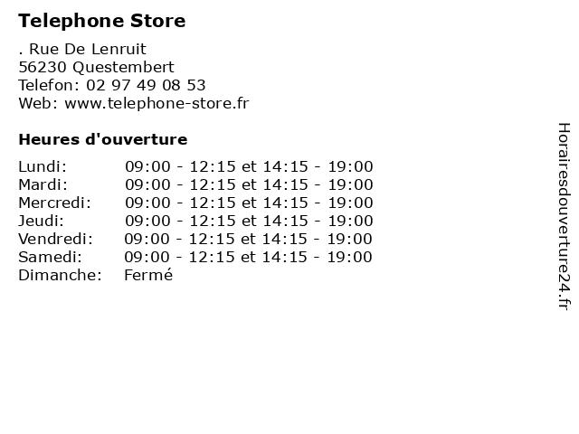 Telephone Store à Questembert: adresse et heures d'ouverture