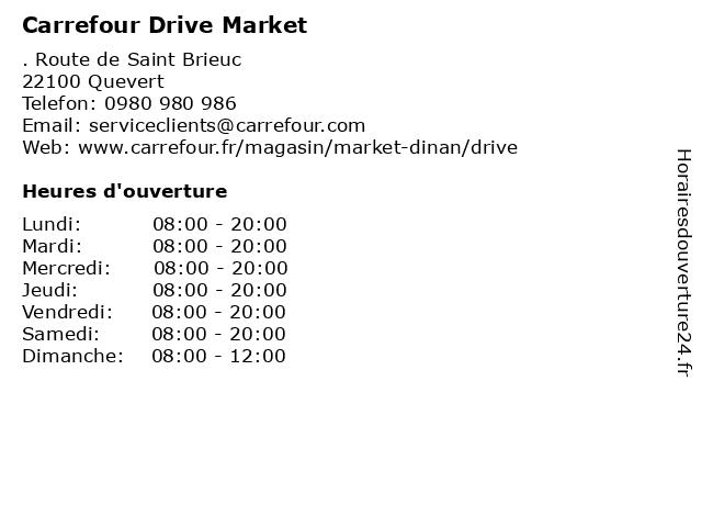 Carrefour Drive à Quevert: adresse et heures d'ouverture