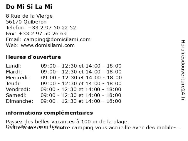 Do Mi Si La Mi à Quiberon: adresse et heures d'ouverture