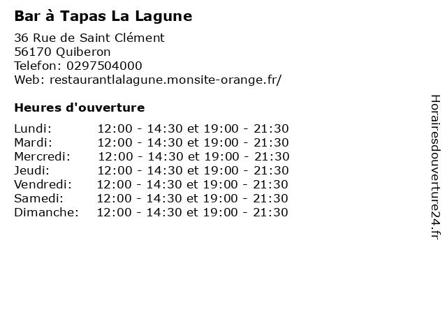 La Closerie Saint Clement à Quiberon: adresse et heures d'ouverture