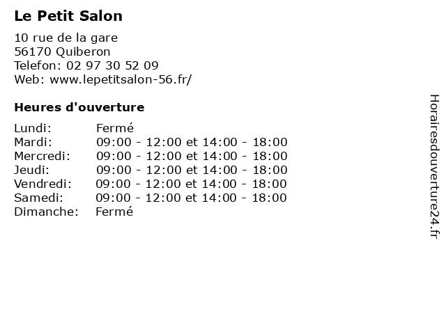 Le Petit Salon à Quiberon: adresse et heures d'ouverture