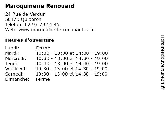 Maroquinerie Renouard à Quiberon: adresse et heures d'ouverture