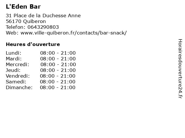 Western Union à Quiberon: adresse et heures d'ouverture