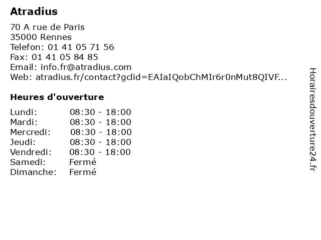 Atradius à Rennes: adresse et heures d'ouverture