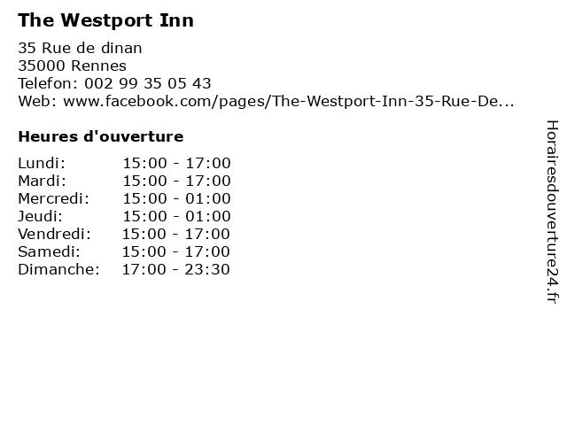 The Westport Inn à Rennes: adresse et heures d'ouverture
