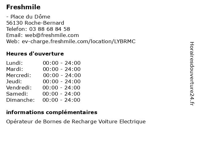 Freshmile à Roche-Bernard: adresse et heures d'ouverture