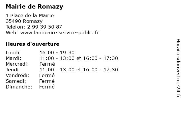 Mairie de Romazy à Romazy: adresse et heures d'ouverture