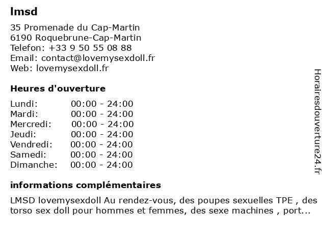 lmsd à Roquebrune-Cap-Martin: adresse et heures d'ouverture