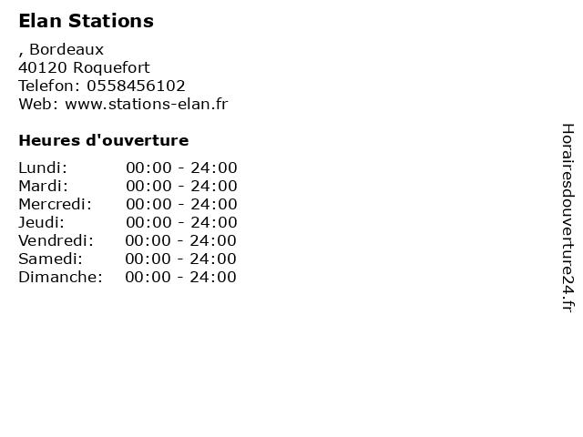 Elan Stations à Roquefort: adresse et heures d'ouverture