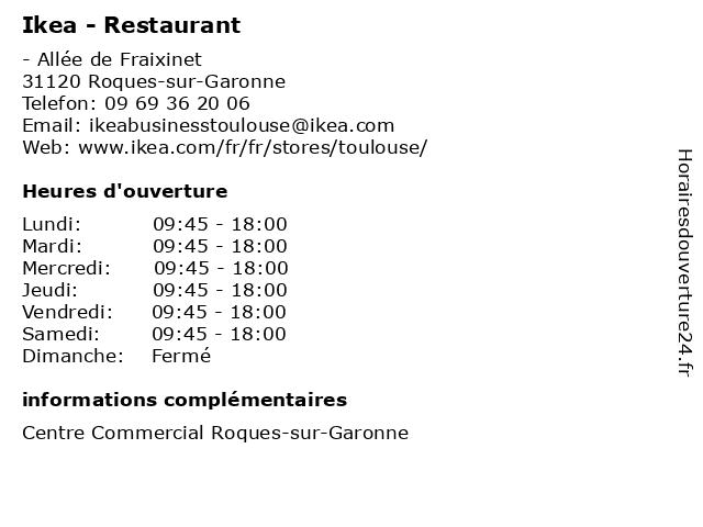 ouverture ikea restaurant