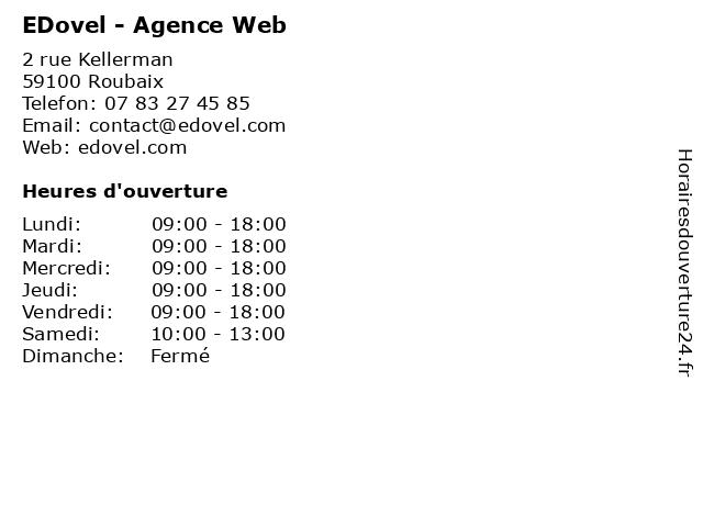 EDovel - Agence Web à Roubaix: adresse et heures d'ouverture