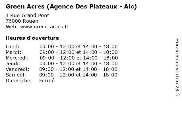 Green Acres (Agence Des Plateaux - Aic) à Rouen: adresse et heures d'ouverture