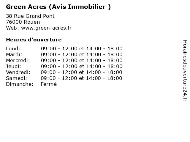 Green Acres (Avis Immobilier ) à Rouen: adresse et heures d'ouverture