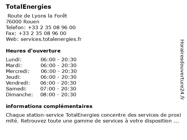 Station-Service Total à Rouen: adresse et heures d'ouverture