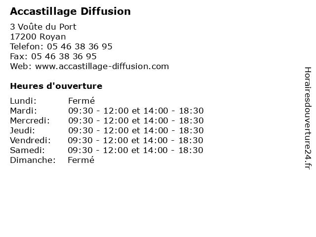 Accastillage Diffusion à Royan: adresse et heures d'ouverture