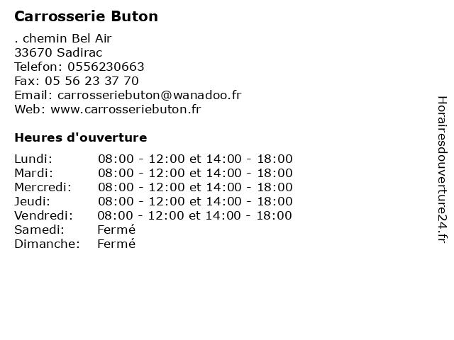 Carrosserie Buton à Sadirac: adresse et heures d'ouverture