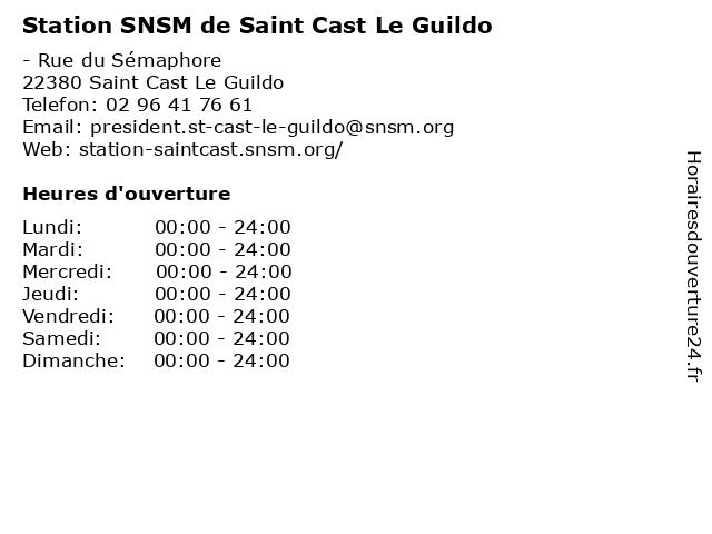 Station SNSM de Saint Cast Le Guildo à Saint Cast Le Guildo: adresse et heures d'ouverture