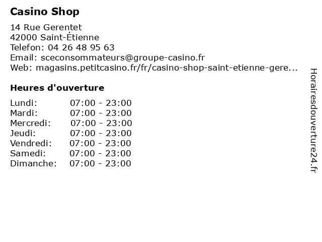 Vival by Casino à Saint Etienne: adresse et heures d'ouverture