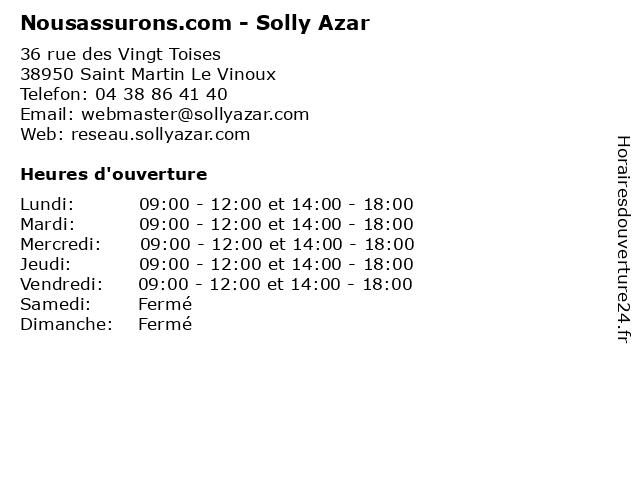Nousassurons.com - Solly Azar à Saint Martin Le Vinoux: adresse et heures d'ouverture