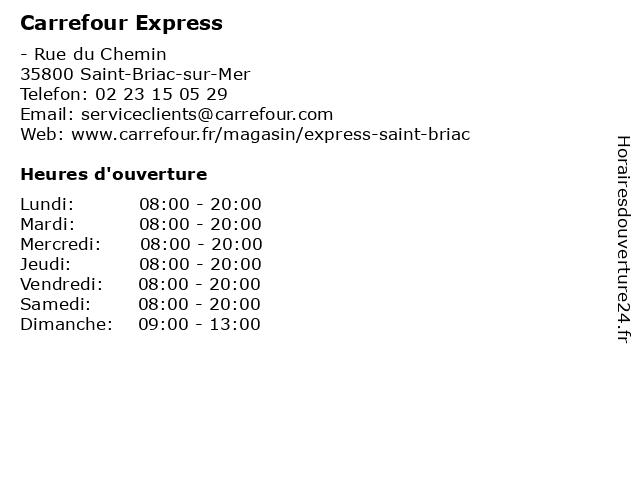 Carrefour Express à Saint-Briac-sur-Mer: adresse et heures d'ouverture