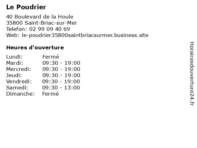 Le Poudrier à Saint-Briac-sur-Mer: adresse et heures d'ouverture