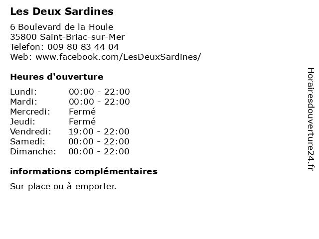 Les Deux Sardines à Saint-Briac-sur-Mer: adresse et heures d'ouverture
