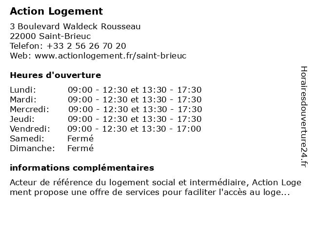Action Logement à Saint-Brieuc: adresse et heures d'ouverture