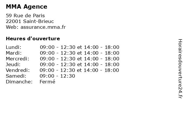 MMA Agence à Saint-Brieuc: adresse et heures d'ouverture