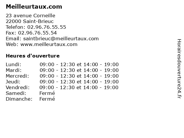 Meilleurtaux.com à Saint-Brieuc: adresse et heures d'ouverture