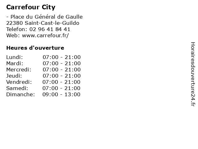 Carrefour City à Saint-Cast-le-Guildo: adresse et heures d'ouverture