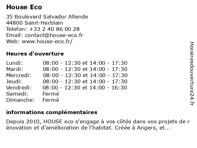House Eco à Saint-Herblain: adresse et heures d'ouverture