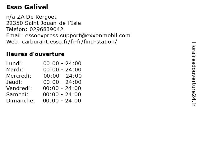 Esso Galivel à Saint-Jouan-de-l'Isle: adresse et heures d'ouverture