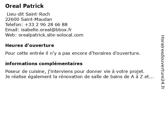 Oreal Patrick à Saint-Maudan: adresse et heures d'ouverture