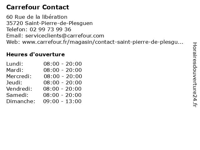 Carrefour Contact à Saint-Pierre-de-Plesguen: adresse et heures d'ouverture