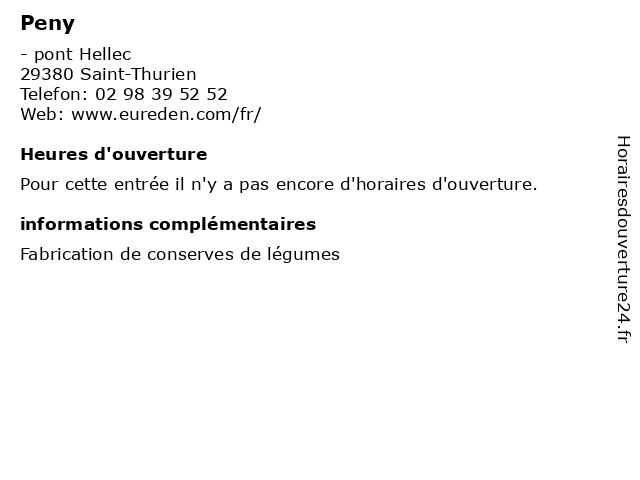 Peny à Saint-Thurien: adresse et heures d'ouverture