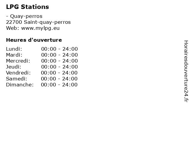 LPG Stations à Saint-quay-perros: adresse et heures d'ouverture