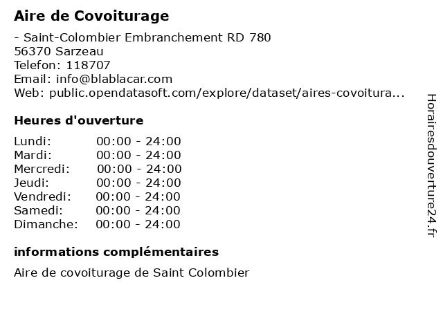 Aire de Covoiturage à Sarzeau: adresse et heures d'ouverture