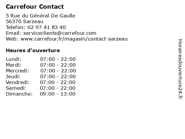 Carrefour Contact à Sarzeau: adresse et heures d'ouverture
