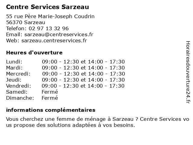 Centre Services à Sarzeau: adresse et heures d'ouverture