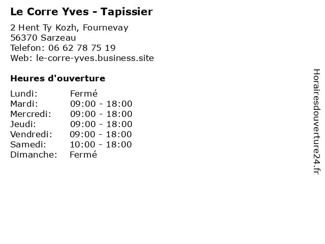 Le Corre Yves - Tapissier à Sarzeau: adresse et heures d'ouverture
