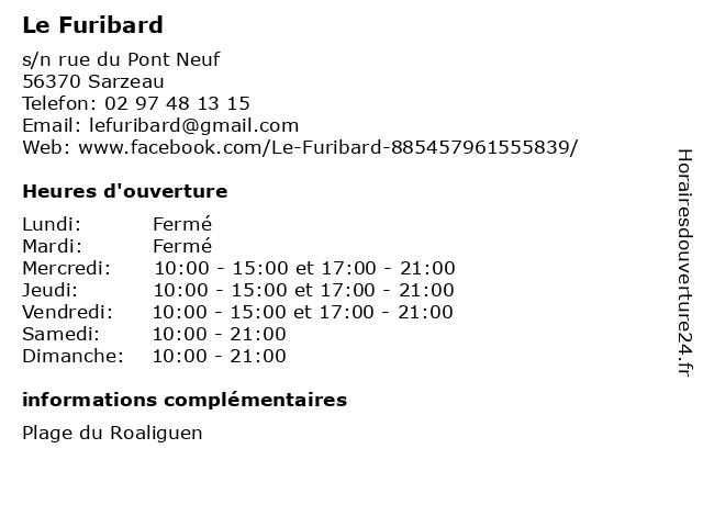 Le Furibard à Sarzeau: adresse et heures d'ouverture