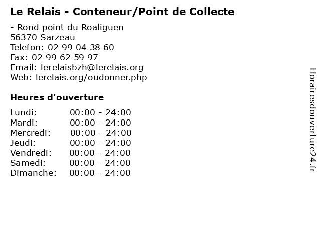 Le Relais - Conteneur/Point de Collecte à Sarzeau: adresse et heures d'ouverture