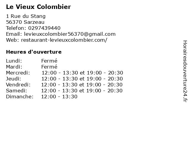 Le Vieux Colombier à Sarzeau: adresse et heures d'ouverture