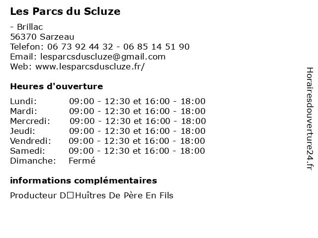 Les Parcs du Scluze à Sarzeau: adresse et heures d'ouverture