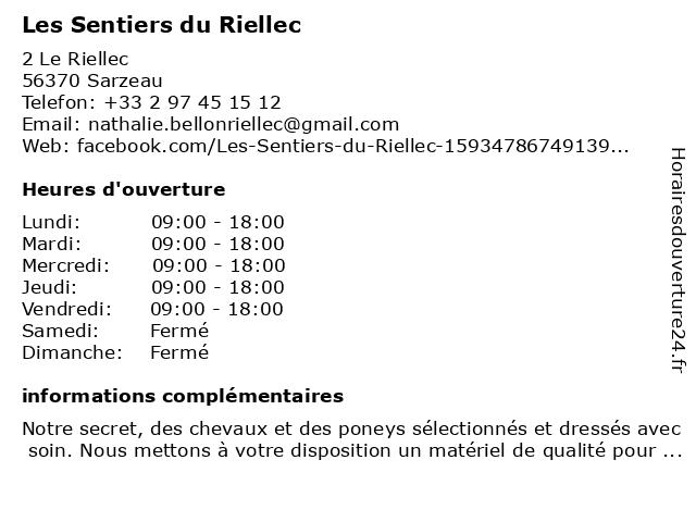 Les Sentiers du Riellec à Sarzeau: adresse et heures d'ouverture