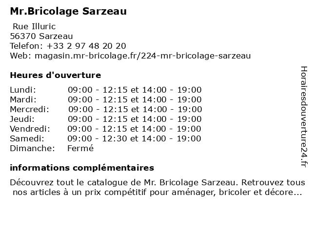 Mr.Bricolage Sarzeau à Sarzeau: adresse et heures d'ouverture