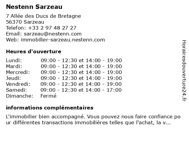 Nestenn Sarzeau à Sarzeau: adresse et heures d'ouverture