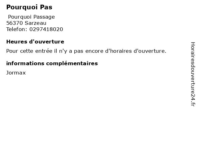 Pourquoi Pas à Sarzeau: adresse et heures d'ouverture