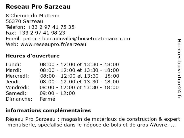 Reseau Pro Sarzeau à Sarzeau: adresse et heures d'ouverture